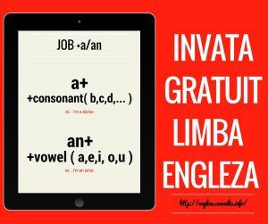 job + a/an