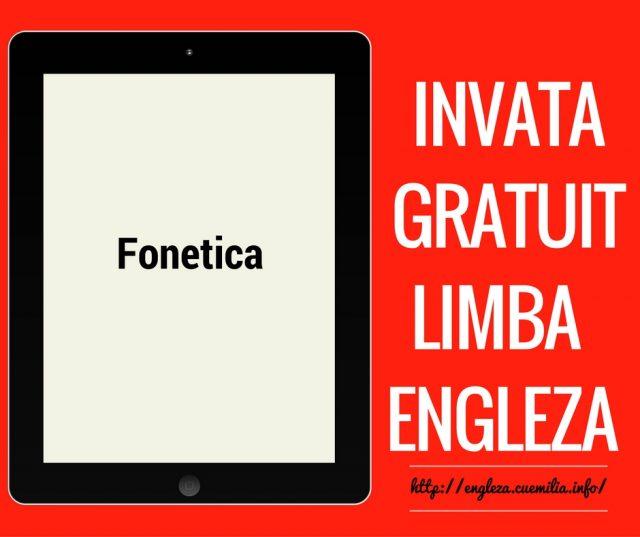 Fonetică – vocala [ə]